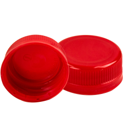38mm DBJ Red HDPE Tamper Evident Screw Cap