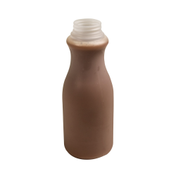 14 oz. Pinch Round HDPE Dairy Bottle with 38mm ITT & STT Neck (Cap Sold Separately)