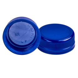38mm SSJ Blue LDPE Tamper Evident Screw On Cap