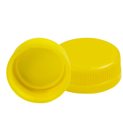 38mm Yellow SSJ LDPE Tamper Evident Screw On Cap