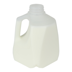 32 oz. Squat HDPE Dairy Bottle with 38mm DBJ Neck  (Cap Sold Separately)