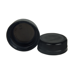 38mm Black DBJ HDPE Tamper Evident Screw Cap