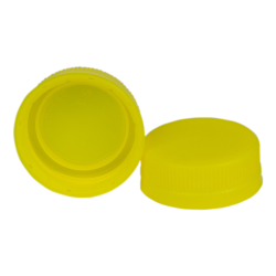 38mm DBJ Yellow HDPE Tamper Evident Screw Cap