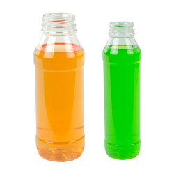 PET Round Beverage Bottles & Caps