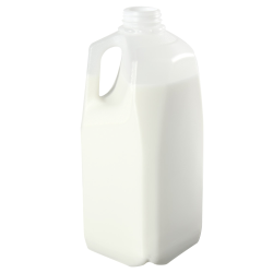 HDPE 64 oz. Dairy Jug with Handle & Caps