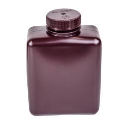 32 oz./1000mL Nalgene™ Amber Rectangular Bottles with 53mm Caps (Sold by Case)