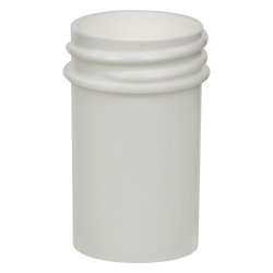 7/8 oz. White Polypropylene Straight Sided Jar with 33/400 Neck (Cap Sold Separately)