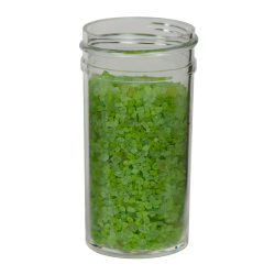1-1/2 oz. Polystyrene Straight Sided Clear Jar with 38/400 Neck (Cap Sold Separately)