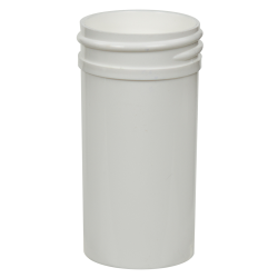 1-1/2 oz. White Polypropylene Straight Sided Jar with 38/400 Neck (Cap Sold Separately)