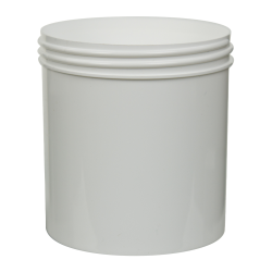 20 oz. Polypropylene Straight Sided White Jar with 100/400 Neck (Cap Sold Separately)