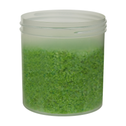 20 oz. Polypropylene Straight Sided Natural Jar with 100/400 Neck (Cap Sold Separately)
