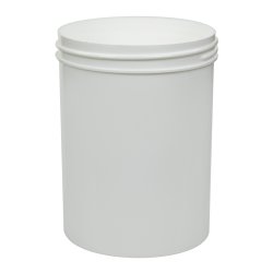 26 oz. White Polypropylene Straight Sided Jar with 100/400 Neck (Cap Sold Separately)