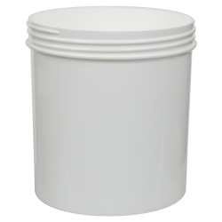 40 oz. White Polypropylene Straight Sided Jar with 120/400 Neck (Cap Sold Separately)