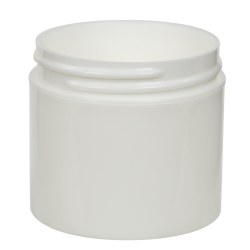 3 oz. Polypropylene Straight Sided Thick Walled White Jar with 58/400 Neck (Cap Sold Separately)