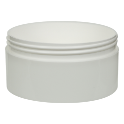 16 oz. Polypropylene Straight Sided Thick Walled White Jar with 120/400 Neck (Cap Sold Separately)