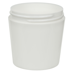 4 oz. White Polypropylene Tapered Thick Wall Jar with 63/400 Neck