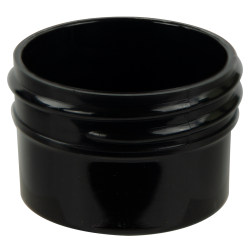 1/2 oz. Black Polypropylene Straight Sided Jar with 43/400 Neck (Cap Sold Separately)