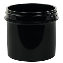 3 oz. Black Polypropylene Straight Sided Jar with 58/400 Neck (Cap Sold Separately)