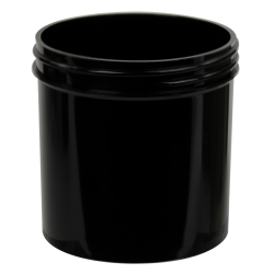 6 oz. Black Polypropylene Straight Sided Jar with 70/400 Neck (Cap Sold Separately)