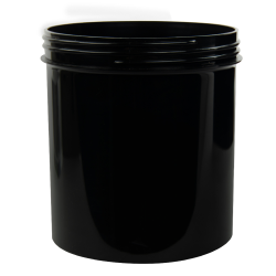 40 oz. Black Polypropylene Straight Sided Jar with 120/400 Neck (Cap Sold Separately)