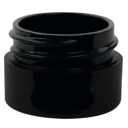 1/8 oz. Black Polypropylene Thick Wall Straight Sided Jar with 33/400 Neck (Cap Sold Separately)