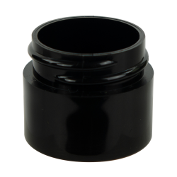1/4 oz. Black Polypropylene Thick Wall Straight Sided Jar with 33/400 Neck (Cap Sold Separately)