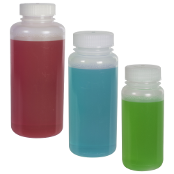 Precisionware™ LDPE Wide Mouth Bottles with Caps