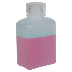 4 oz./125mL Nalgene™ HDPE Rectangular Bottle with 28mm Cap