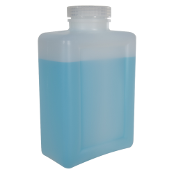 64 oz./2000mL Nalgene™ HDPE Rectangular Bottle with 63mm Cap
