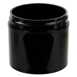 3 oz. Black Polypropylene Thick Wall Straight Sided Jar with 58/400 Neck (Cap Sold Separately)