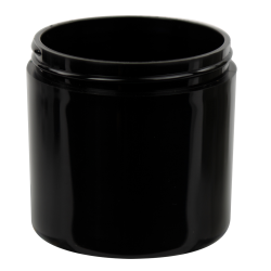 6 oz. Black Polypropylene Thick Wall Straight Sided Jar with 70/400 Neck (Cap Sold Separately)