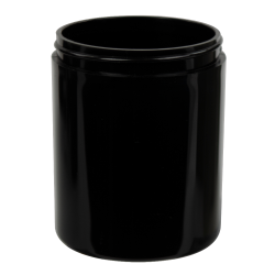 8 oz. Black Polypropylene Thick Wall Straight Sided Jar with 70/400 Neck (Cap Sold Separately)