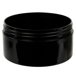 16 oz. Black Polypropylene Thick Wall Straight Sided Jar with 120/400 Neck (Cap Sold Separately)