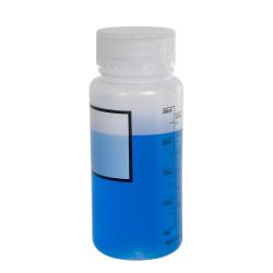 250mL Azlon® Polypropylene Graduated Label Bottles with 45mm Caps - Case of 12