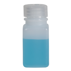 2 oz./60mL Nalgene™ Wide Mouth Polyethylene Square Bottle with 28mm Cap
