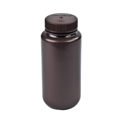 Thermo Scientific™ Nalgene™ Lab Quality Amber HDPE Wide Mouth Bottles with Caps (Sold by Case)