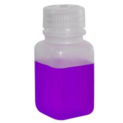 2 oz./60mL Nalgene™ Wide Polypropylene Mouth Square Bottle with 28mm Cap
