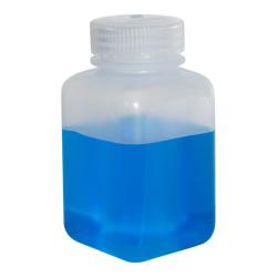8 oz./250mL Nalgene™ Wide Mouth Polypropylene Square Bottle with 43mm Cap