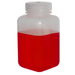 16 oz./500mL Nalgene™ Wide Mouth Polypropylene Square Bottle with 53mm Cap