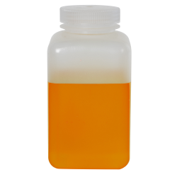 32 oz./1000mL Nalgene™ Wide Mouth Polypropylene Square Bottle with 63mm Cap