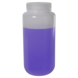32 oz./1000mL Nalgene™ LDPE Wide Mouth Bottle with 63mm Cap