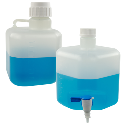 Azlon® Polypropylene Square Carboy with Corner Stopcock