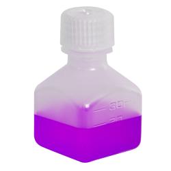 1 oz./30mL Nalgene™ Narrow Mouth Polypropylene Square Bottle with 20mm Cap