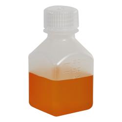 2 oz./60mL Nalgene™ Narrow Mouth Polypropylene Square Bottle with 24mm Cap