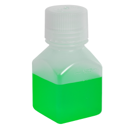 4 oz./125mL Nalgene™ Narrow Mouth Polypropylene Square Bottle with 38/430 Cap