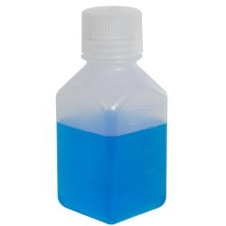 8 oz./250mL Nalgene™ Narrow Mouth Polypropylene Square Bottle with 38/430 Cap