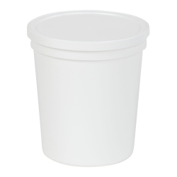 32 oz. White Specimen Containers with Lids - Case of 100