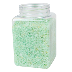 19 oz. Clear PET Square Jar with 63mm Neck (Cap Sold Separately)