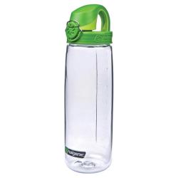 24 oz. Clear Nalgene® On The Fly Tritan Water Bottle with Green Cap