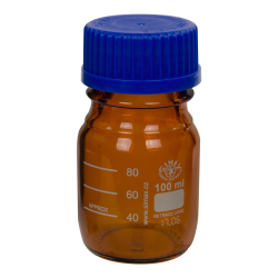 100mL Amber Glass Media/Storage Bottle with Cap